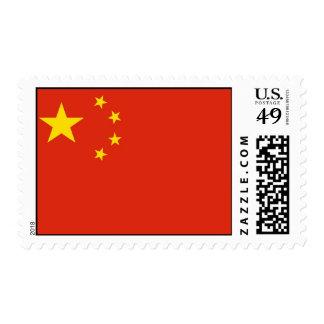 Sello con la bandera de China