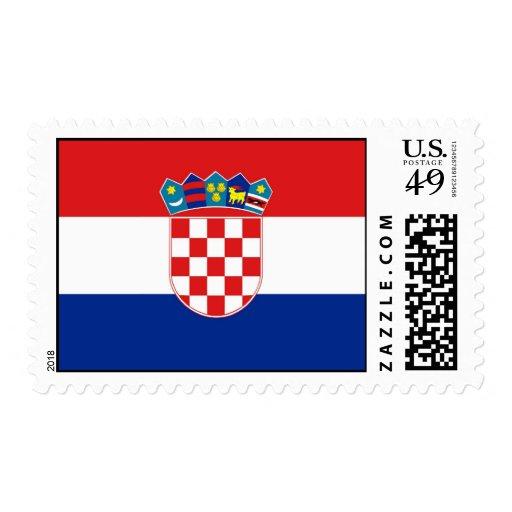 Sello con la bandera de Croacia