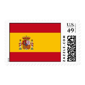 Sello con la bandera de España