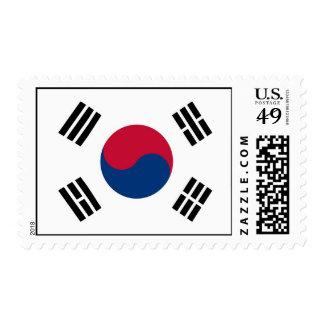 Sello con la bandera de la Corea del Sur
