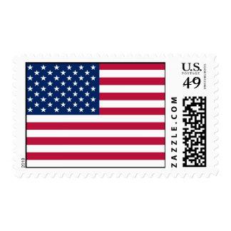 Sello con la bandera de los Estados Unidos de Amér