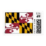 Sello con la bandera de Maryland, los E.E.U.U.