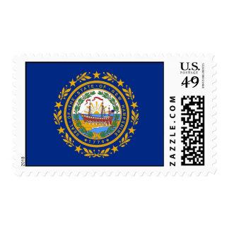 Sello con la bandera de New Hampshire, los E.E.U.U