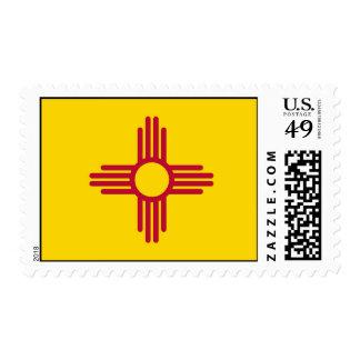 Sello con la bandera de New México, los E.E.U.U.