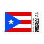 Sello con la bandera de Puerto Rico, los E.E.U.U.