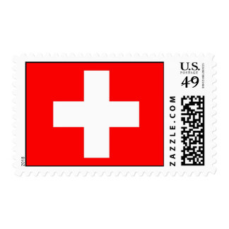 Sello con la bandera de Suiza