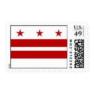 Sello con la bandera del Washington DC, los E.E.U.