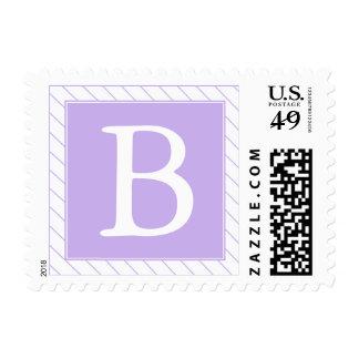 Sello con monograma rayado púrpura