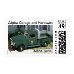 Sello conmemorativo alfa #2 del garaje y del hardw