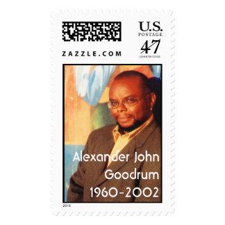Sello conmemorativo de Alexander Juan Goodrum
