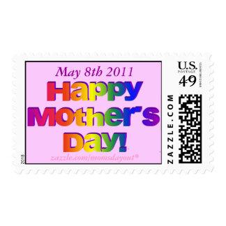 Sello conmemorativo madres día del 8 de mayo de 20