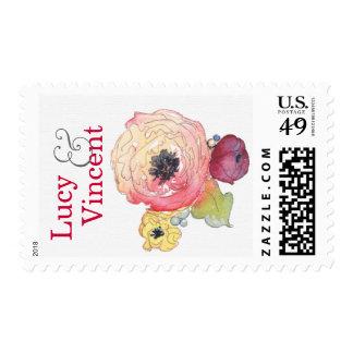 Sello conocido adaptable de la flor del Peony de