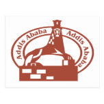 Sello de Addis Ababa Tarjeta Postal