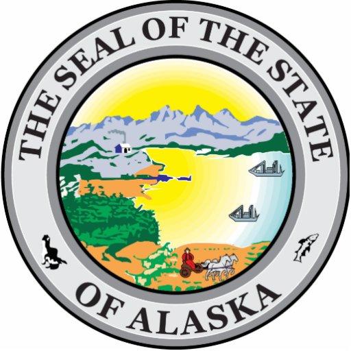 Sello de Alaska Fotoescultura Vertical