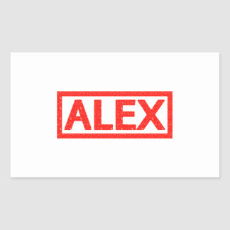 Sello de Alex Pegatina Rectangular