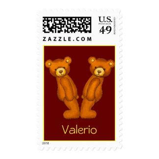 Sello de Alphabet~Letter V Initial~Postage del oso