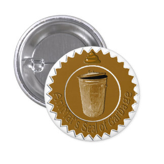 Sello de AniMat de la basura (pequeña) Pin Redondo 2,5 Cm