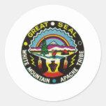 sello de apache del sealap etiqueta redonda