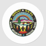 sello de apache del sealap pegatina redonda