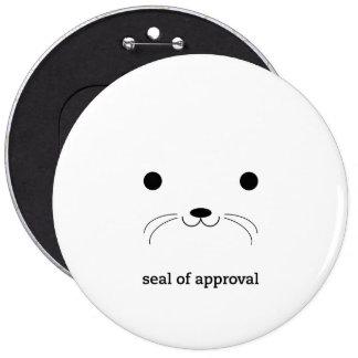'Sello de Approval Pin Redondo De 6 Pulgadas
