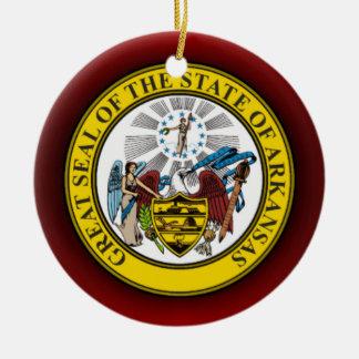 Sello de Arkansas Ornaments Para Arbol De Navidad