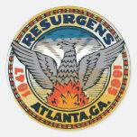 Sello de Atlanta, Georgia Pegatina Redonda