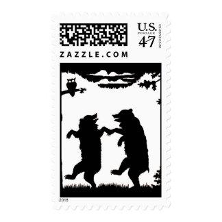 Sello de baile de la silueta de los osos