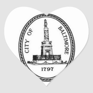 Sello de Baltimore Pegatina En Forma De Corazón