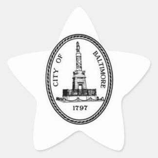 Sello de Baltimore Pegatina En Forma De Estrella