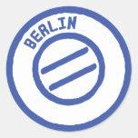 sello de Berlín Etiquetas Redondas