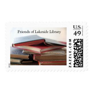 Sello de biblioteca usado de los libros