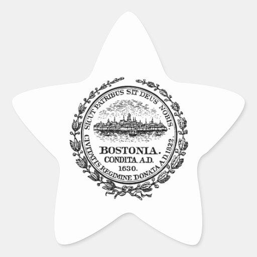 Sello de Boston Calcomania Forma De Estrella