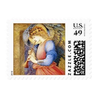 Sello de Burne-Jones del ángel del navidad pequeño