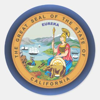 Sello de California Pegatina Redonda