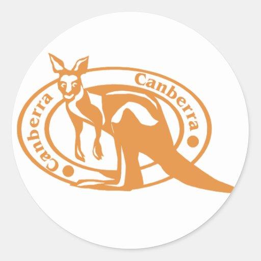 Sello de Canberra Pegatina Redonda