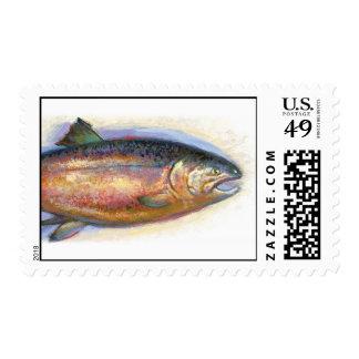 Sello de color salmón