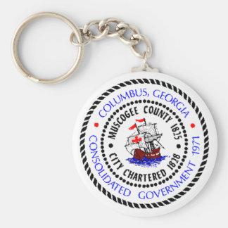 Sello de Columbus Georgia Llaveros Personalizados