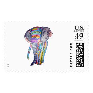 Sello de correo de Rainbowphant