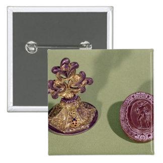 Sello de Cosimo de Medici Pin Cuadrado
