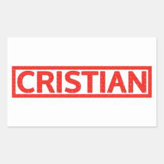 Sello de Cristian Rectangular Altavoz