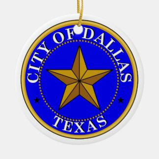 Sello de Dallas Adornos De Navidad
