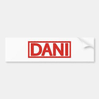 Sello de Dani Pegatina Para Auto