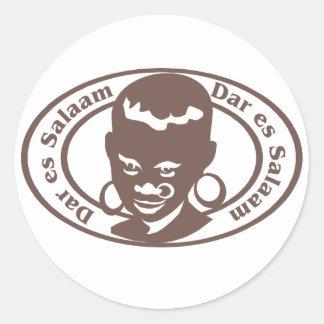 Sello de Dar es Salaam Pegatina Redonda