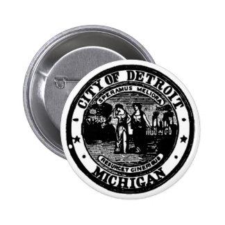 Sello de Detroit Pin