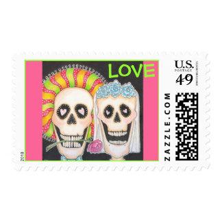 Sello de Dia De Los Muertos LOVE
