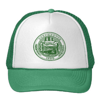 Sello de Dorchester Massachusetts, verde Gorros Bordados