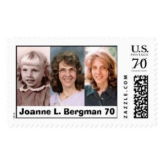 Sello de encargo de la edad 70 de Juana L. Bergman