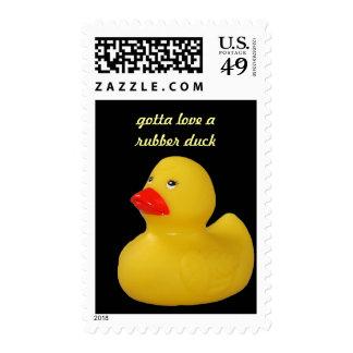 Sello de encargo del pato del amarillo lindo de go