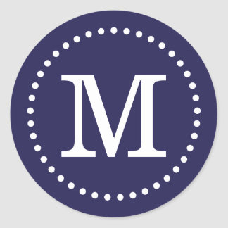 Sello de encargo del sobre del monograma de los pegatina redonda