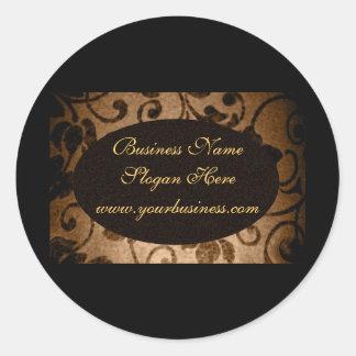 Sello de encargo oval del negocio del pergamino pegatina redonda